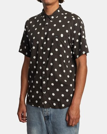3 Whitworth Short Sleeve Shirt Black AVYWT00192 RVCA