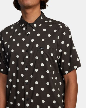 5 Whitworth Short Sleeve Shirt Black AVYWT00192 RVCA