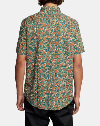 2 Mind Flower Paisley Short Sleeve Shirt Brown AVYWT00199 RVCA