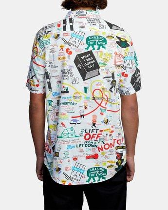 2 Espo Short Sleeve Shirt White AVYWT00201 RVCA