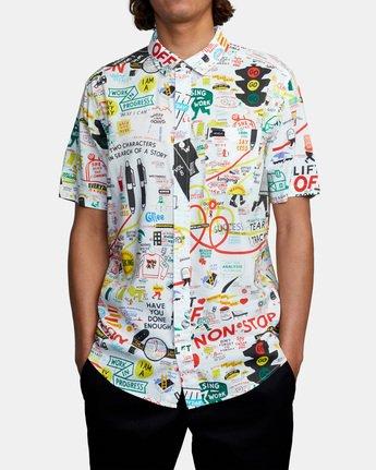 1 Espo Short Sleeve Shirt White AVYWT00201 RVCA