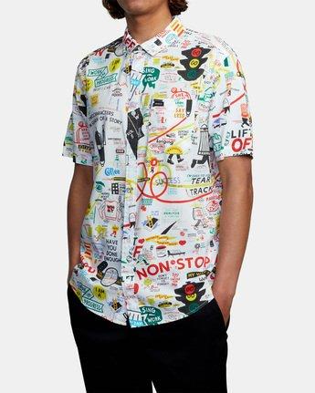 3 Espo Short Sleeve Shirt White AVYWT00201 RVCA