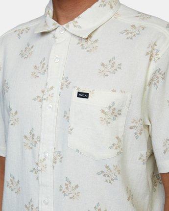 4 Prarie Floral Short Sleeve Shirt White AVYWT00206 RVCA