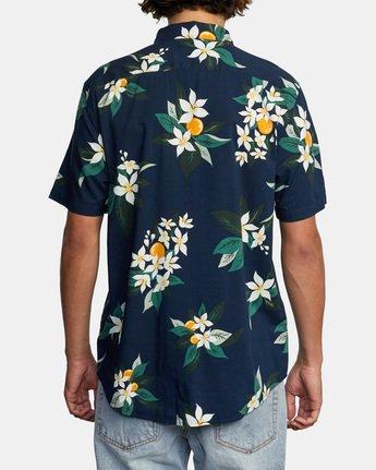 2 Anaheim Short Sleeve Shirt Blue AVYWT00220 RVCA