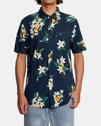 1 Anaheim Short Sleeve Shirt Blue AVYWT00220 RVCA