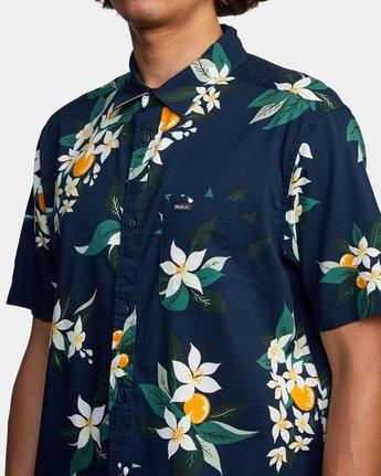 4 Anaheim Short Sleeve Shirt Blue AVYWT00220 RVCA