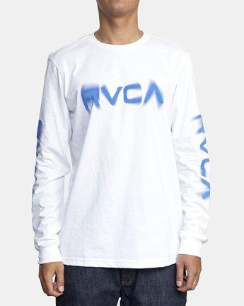1 BLURS LONG SLEEVE TEE White AVYZT00133 RVCA
