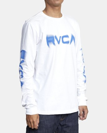 3 BLURS LONG SLEEVE TEE White AVYZT00133 RVCA