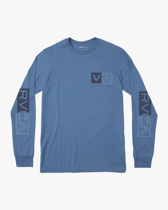 0 DIVIDES LONG SLEEVE TEE Blue AVYZT00134 RVCA