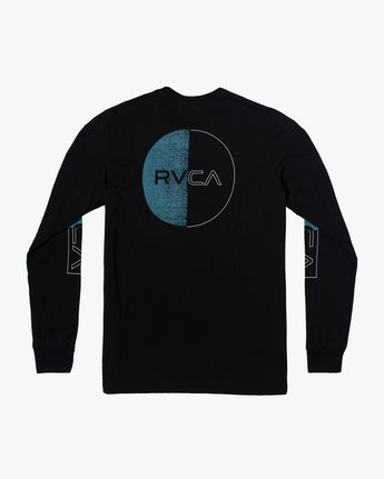 1 DIVIDES LONG SLEEVE TEE Black AVYZT00134 RVCA