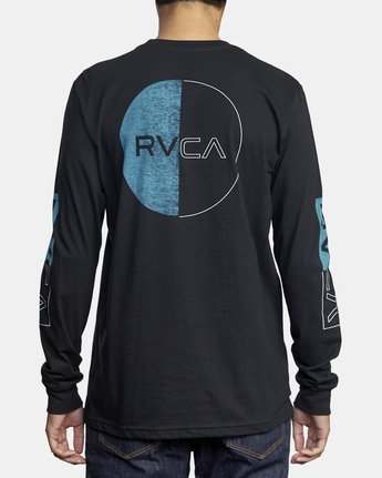 6 DIVIDES LONG SLEEVE TEE Black AVYZT00134 RVCA