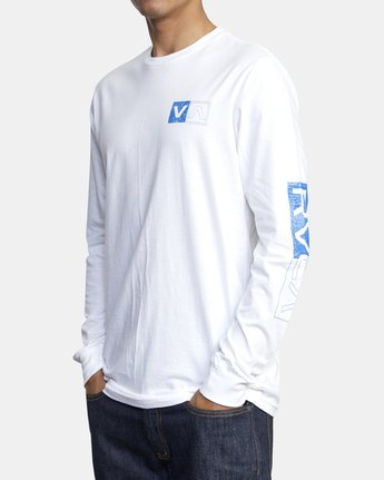 4 DIVIDES LONG SLEEVE TEE White AVYZT00134 RVCA