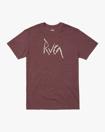 0 SMASHED SHORT SLEEVE TEE Red AVYZT00139 RVCA