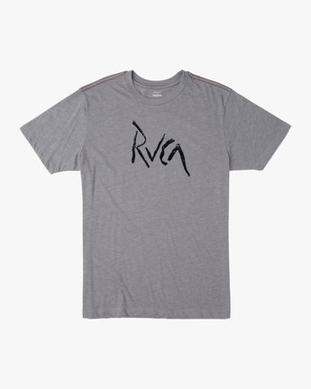 0 SMASHED SHORT SLEEVE TEE Grey AVYZT00139 RVCA