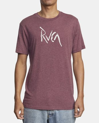 2 SMASHED SHORT SLEEVE TEE Red AVYZT00139 RVCA
