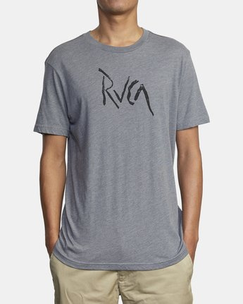 2 SMASHED SHORT SLEEVE TEE Grey AVYZT00139 RVCA