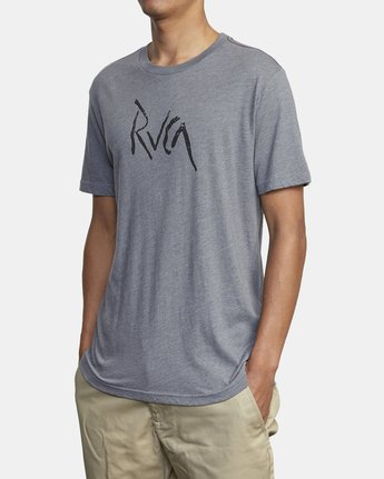 3 SMASHED SHORT SLEEVE TEE Grey AVYZT00139 RVCA
