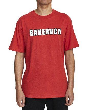 5 BAKERVCA RANSOM SHORT SLEEVE TEE Red AVYZT00162 RVCA