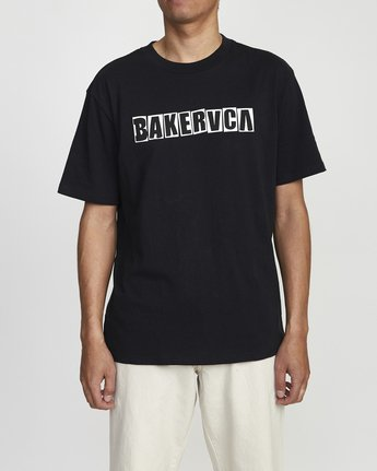 1 BAKERVCA RANSOM SHORT SLEEVE TEE Black AVYZT00162 RVCA