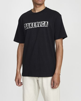 2 BAKERVCA RANSOM SHORT SLEEVE TEE Black AVYZT00162 RVCA