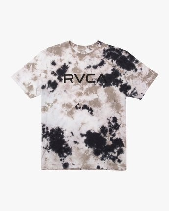 0 BIG RVCA TIE DYE SHORT SLEEVE TEE Grey AVYZT00166 RVCA