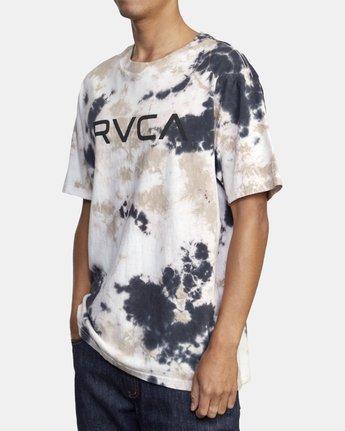 2 BIG RVCA TIE DYE SHORT SLEEVE TEE Grey AVYZT00166 RVCA