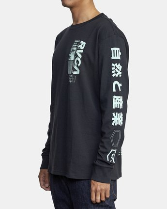 4 FUTURIST LONG SLEEVE TEE Black AVYZT00170 RVCA