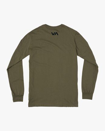1 ICON PERFORMANCE LONG SLEEVE TEE Green AVYZT00178 RVCA