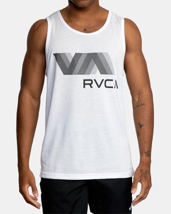 2 VA RVCA BLUR PERFORMANCE TANK TOP White AVYZT00181 RVCA