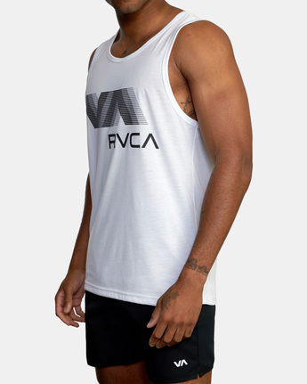 4 VA RVCA BLUR PERFORMANCE TANK TOP White AVYZT00181 RVCA