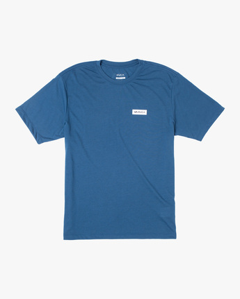 0 ICON SHORT SLEEVE PERFORMANCE TEE Blue AVYZT00184 RVCA
