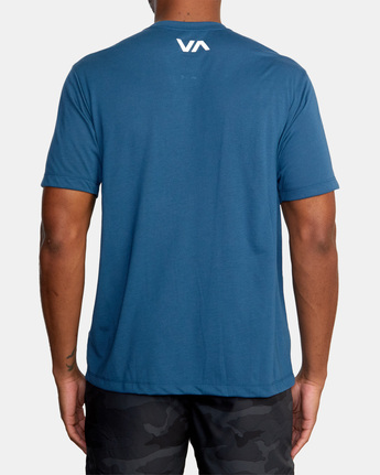 3 ICON SHORT SLEEVE PERFORMANCE TEE Blue AVYZT00184 RVCA