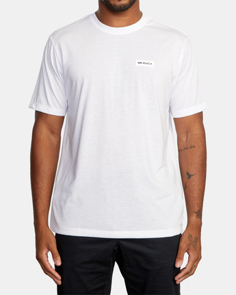 2 ICON SHORT SLEEVE PERFORMANCE TEE White AVYZT00184 RVCA
