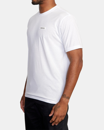 4 ICON SHORT SLEEVE PERFORMANCE TEE White AVYZT00184 RVCA