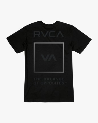1 VA GLORY SHORT SLEEVE PERFORMANCE TEE Black AVYZT00187 RVCA