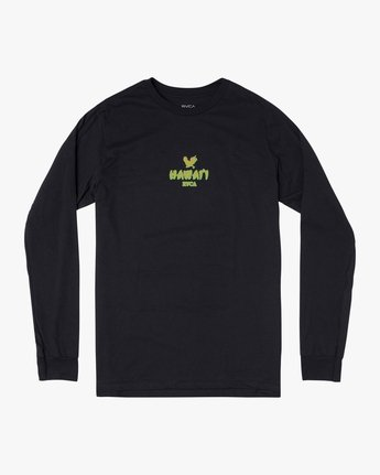 0 STATE OF ALOHA LONG SLEEVE TEE Black AVYZT00190 RVCA