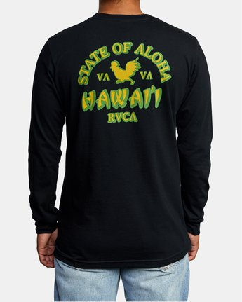 2 STATE OF ALOHA LONG SLEEVE TEE Black AVYZT00190 RVCA