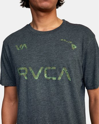 3 HAWAII LEAGUE SHORT SLEEVE TEE Black AVYZT00191 RVCA