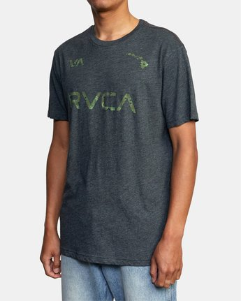 4 HAWAII LEAGUE SHORT SLEEVE TEE Black AVYZT00191 RVCA