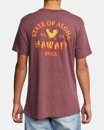 2 STATE OF ALOHA SHORT SLEEVE TEE Red AVYZT00192 RVCA