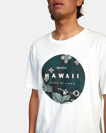 3 HAWAII MOTORS SHORT SLEEVE TEE White AVYZT00193 RVCA