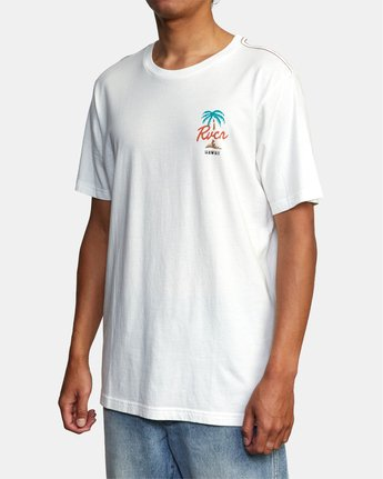 4 VOYAGER SHORT SLEEVE TEE White AVYZT00194 RVCA