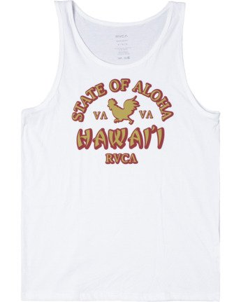 0 STATE OF ALOHA TANK TOP White AVYZT00196 RVCA
