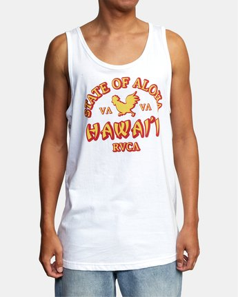 1 STATE OF ALOHA TANK TOP White AVYZT00196 RVCA