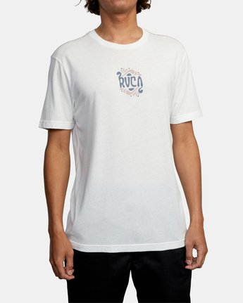 2 TRIPPY TIMES SHORT SLEEVE TEE White AVYZT00202 RVCA
