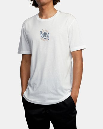 5 TRIPPY TIMES SHORT SLEEVE TEE White AVYZT00202 RVCA