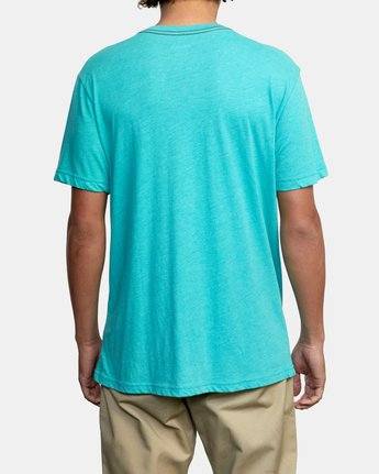 2 CROSSED UP SHORT SLEEVE TEE Blue AVYZT00204 RVCA