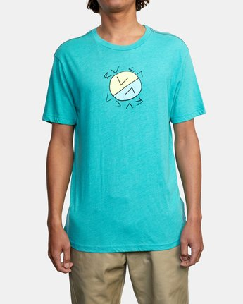 1 CROSSED UP SHORT SLEEVE TEE Blue AVYZT00204 RVCA