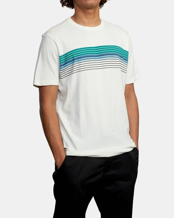 5 STRATE UP SHORT SLEEVE TEE White AVYZT00215 RVCA