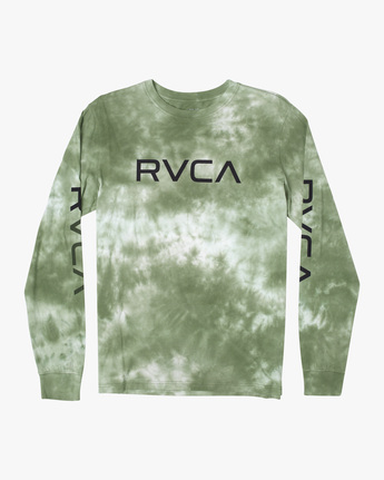 0 BIG RVCA TIE DYE LONG SLEEVE TEE Green AVYZT00223 RVCA